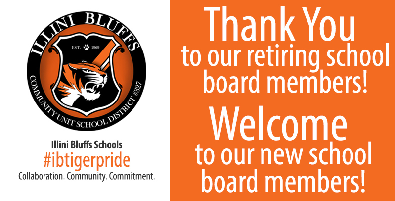 Illini Bluffs Recognizes Retiring School Board Members and Seats New Members