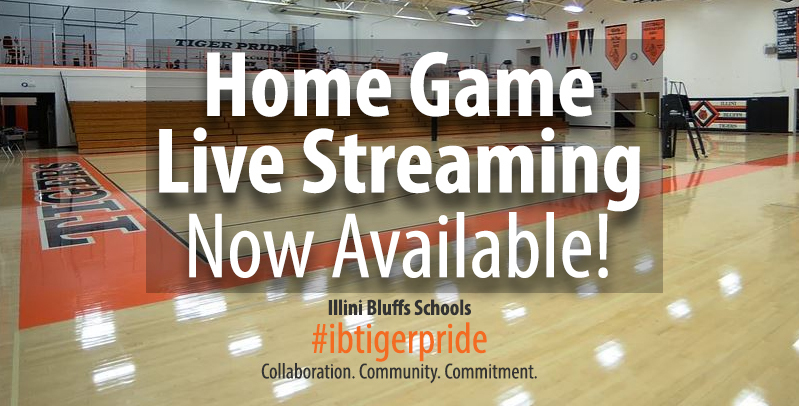 LIve Streaming for Illini Bluffs Home Events