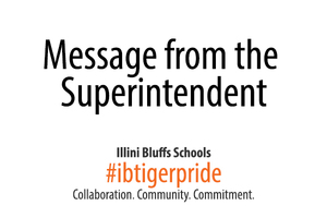 Special Message From the Superintendent
